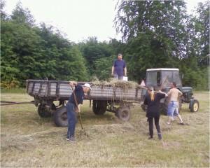 Przygotowanie terenu iparkingów naBieg Papieski. Domacyno 2015 OSP