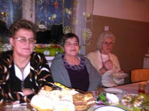 Dzień Kobiet Domacyno 2015. Odlewej: Maria Lewandowska, T. Pilewska, Pani Kujawska