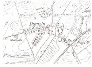 Mapa Domacyna 1945r.  znumerami domów