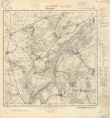 Mapa, naktórejznajduje się zabudowa Domacyna stan najprawdopodobniej z1911rr