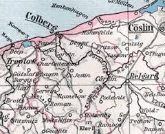 Mapa powiatu kołobrzesko - karlińskiego z1905r.