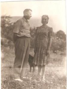 Marianna iStanisław Wróblewscy . Domacyno 1947r.