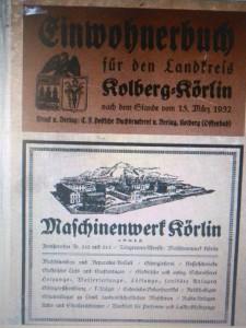 Książka adresowa okręgu Kołobrzeg-Karlino z1937 roku. http://bibliotekacyfrowa.eu/dlibra.html