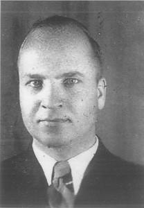 Pierwszy sołtys Domacyna Pan Baranowski. zdj.z lat 40tych XX w.