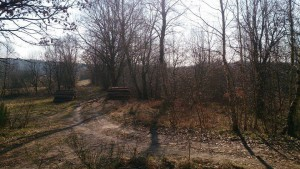 Droga Domacyno- Karwin. Wjazd wstronę starej Kolonii Karwin 2015