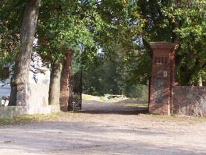 Filary - pozostałość poogrodzeniu pałacu Domacyno 2013.