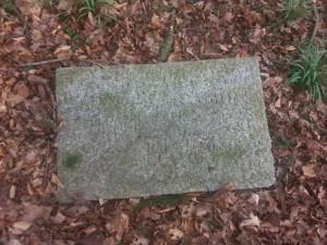Pozostałości pocmentarzu wDomacynie.