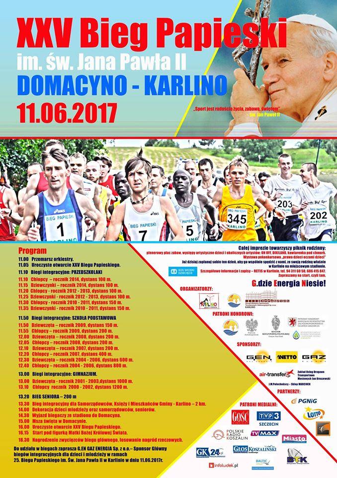 bieg papieski plakat